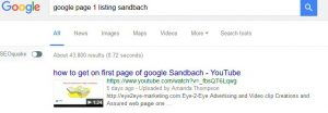 example page-1-listing on google